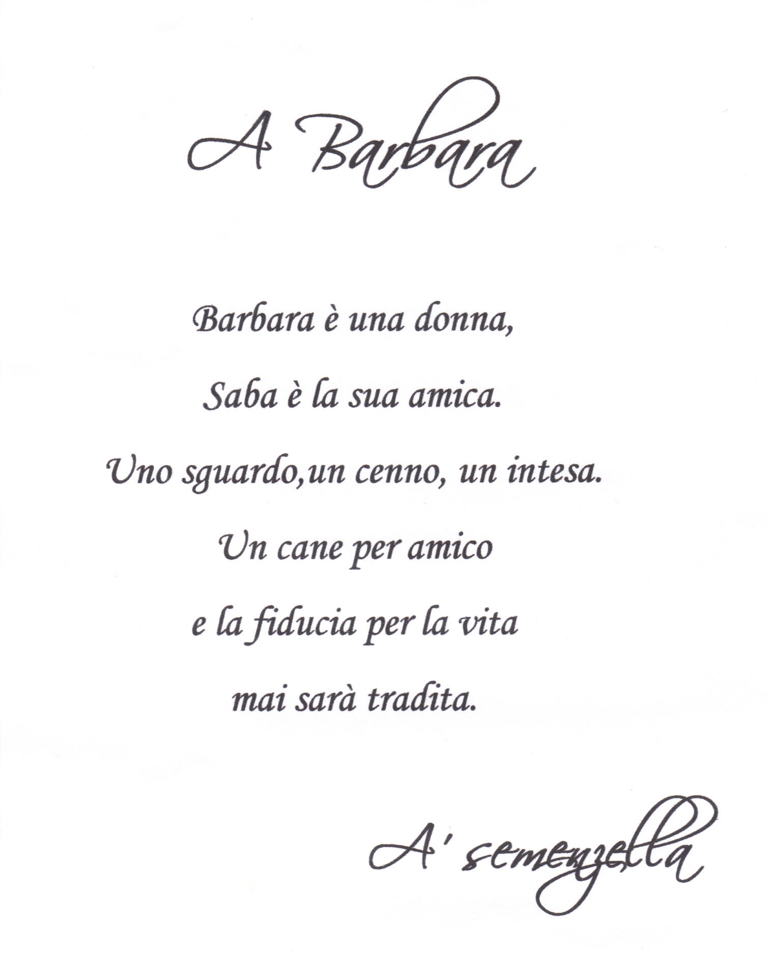 A Poem for Sabra